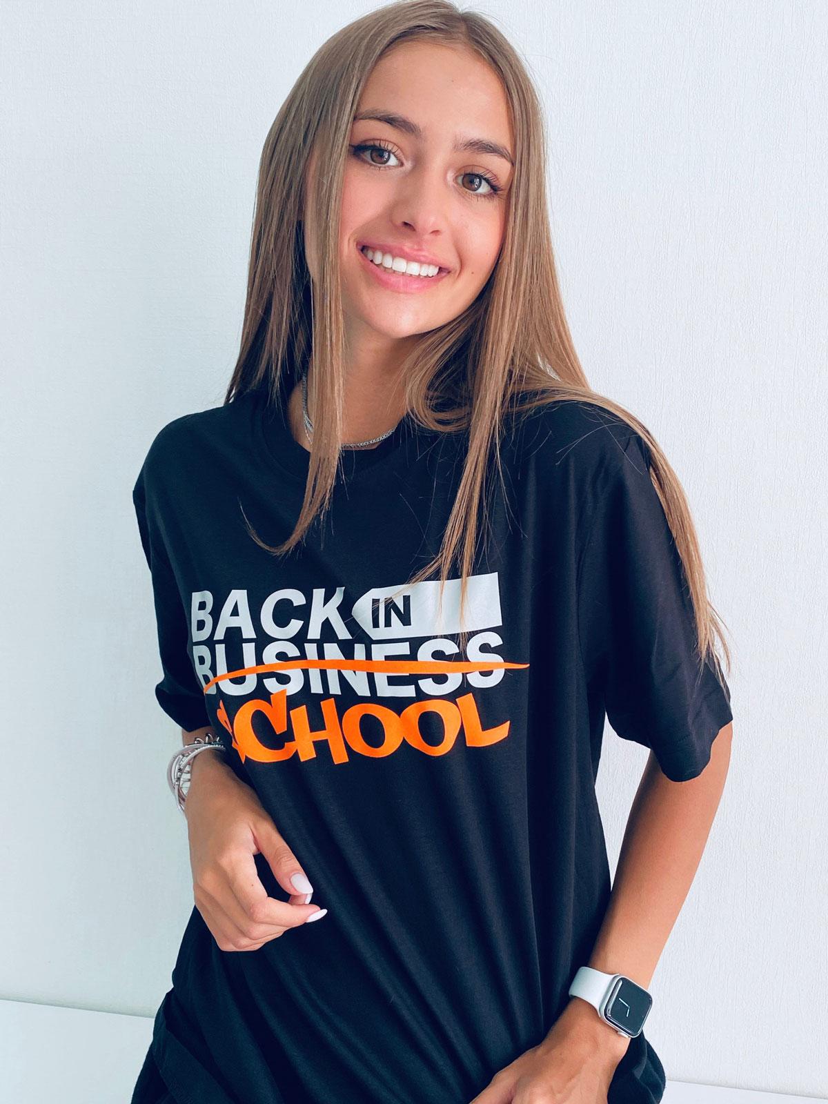 Tricou Let's get back in School Orange cu Efect Magic la Blitz