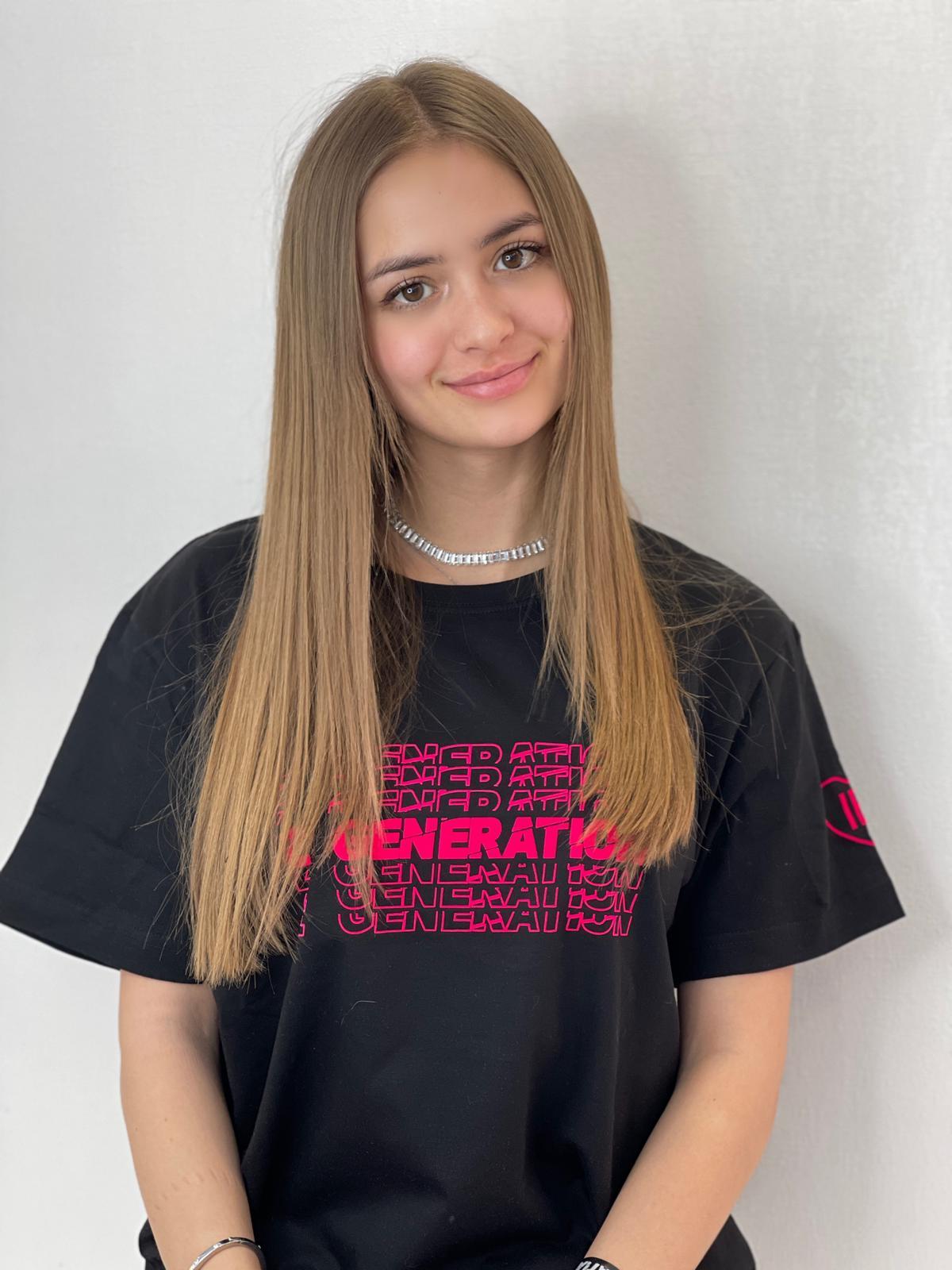 Tricou Negru Z Generation cu Catifea Pink